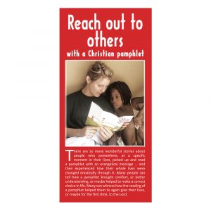 Reach out to others with a Christian pamphlet
