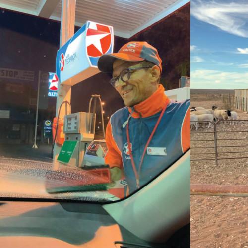 Louis Maarman by n vulstasie in Springbok help gou dat ek darem die huis op Calvinia kan haal